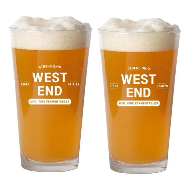 West End Ciderhouse Pint Glasses - Set of 2