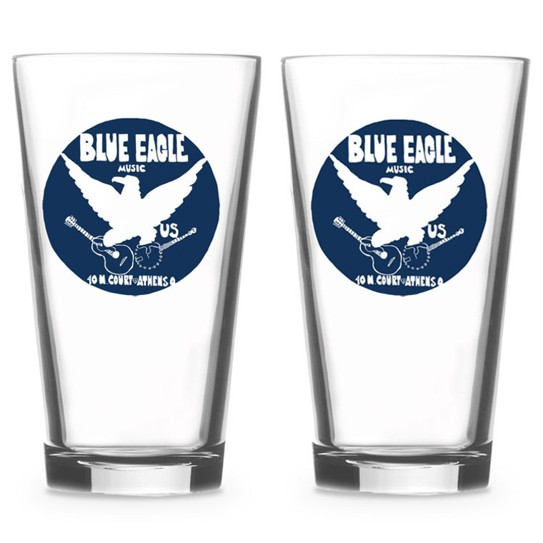 Blue Eagle Music Pint Glasses - Set of 2