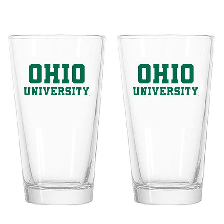 Ohio University Pint Glasses - Set of 2
