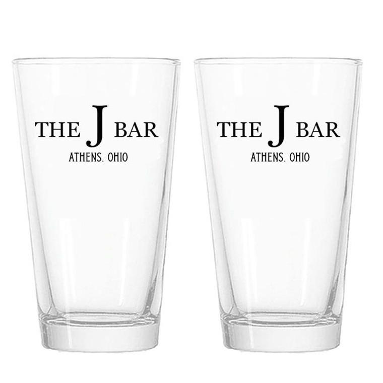 The J Bar Pint Glasses - Set of 2