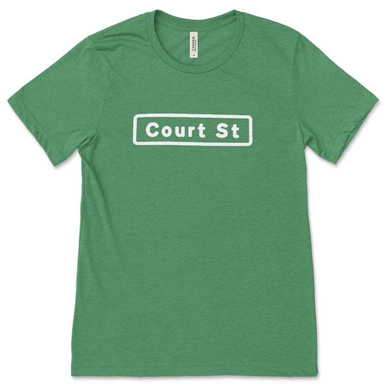 Green Court Street Sign T-Shirt