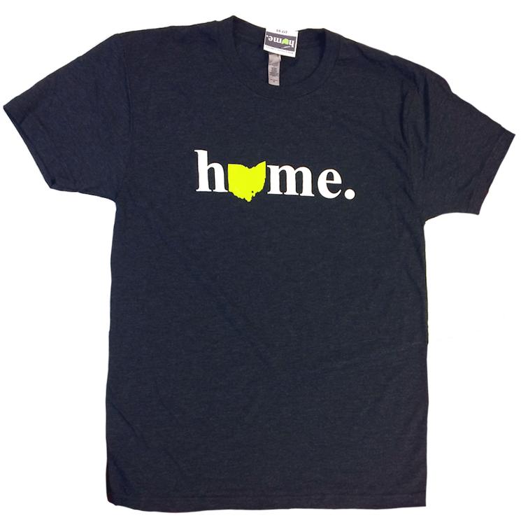Ohio Home T-Shirt - Navy tri-blend