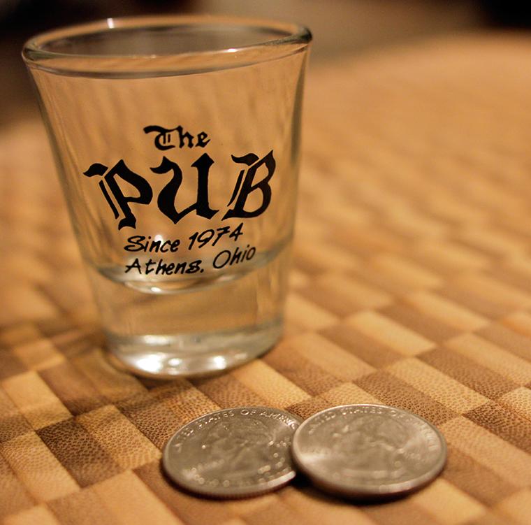 The Pub Shot Glass with Quarters
