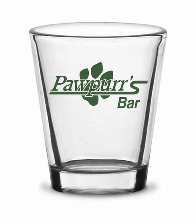 Pawpurr's Shot Glass