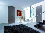 Gray Interior Doors | Where to order the best painted doors, finish options and hardware to go with.