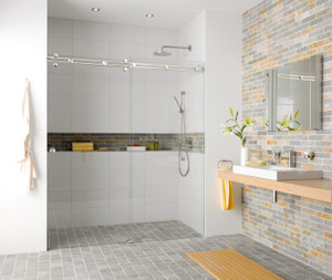 """Miami"" - Sliding Shower Hardware  - For Glass"