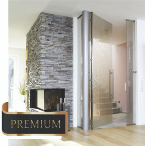 Premium Door Hardware - by German steel manufacture MWE. Custom manufactured per your design selections. Made of high quality stainless steel and hand completed to a 600-grit jewelry like finish.