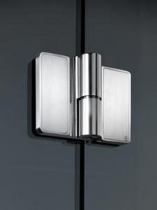 """Spirit"" - Frameless Glass Shower Hinge w/ Lifting Feature"