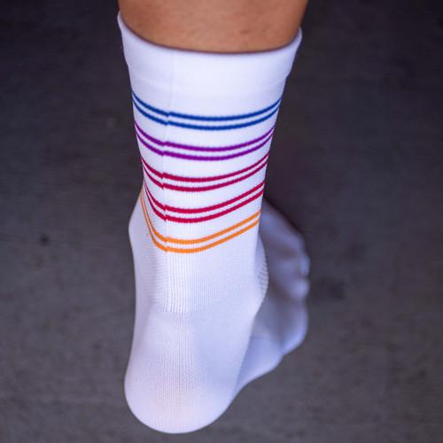 Equipe Team Stripe Socks White