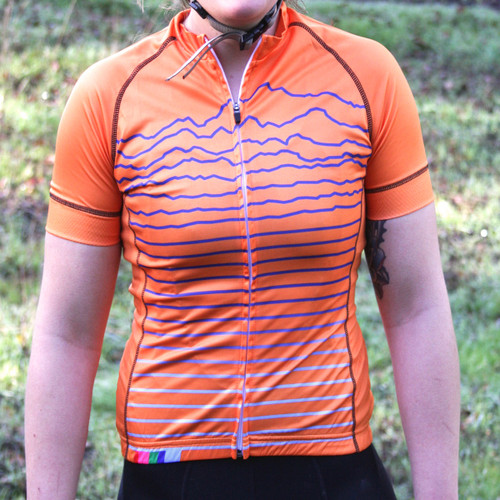 Women's  Orange Topograph Jersey