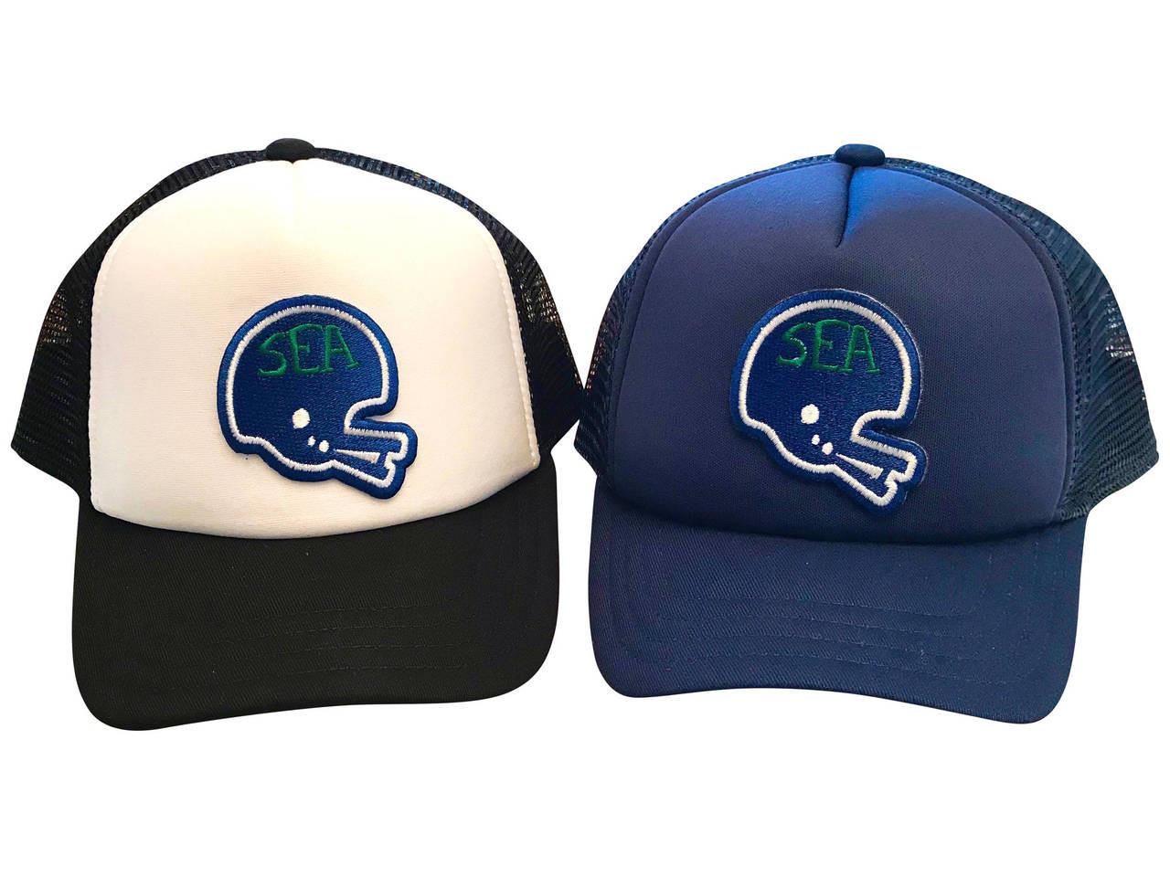8dcc1935 Seattle Football Hawks Helmet Kickers baby & toddler foam trucker hat