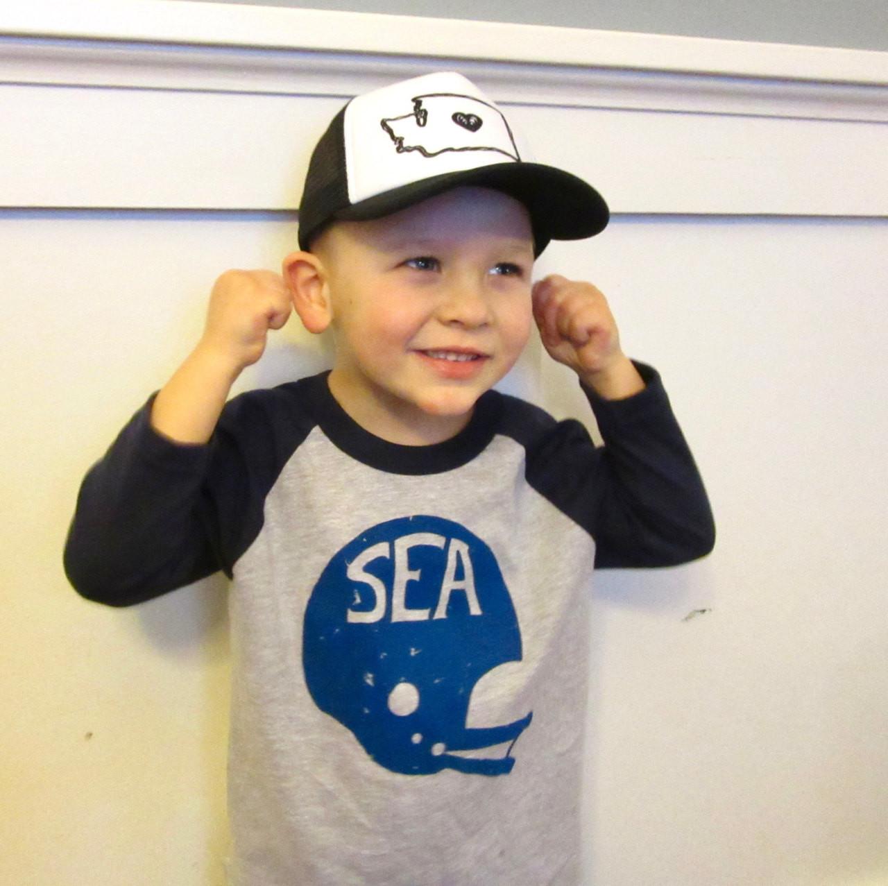 e3859e3e Seattle Football Hawks Helmet Kickers baby & toddler baseball shirt