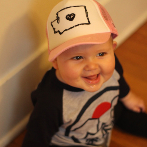 207cc7fb063e0 Washington Love baby   toddler foam trucker hat