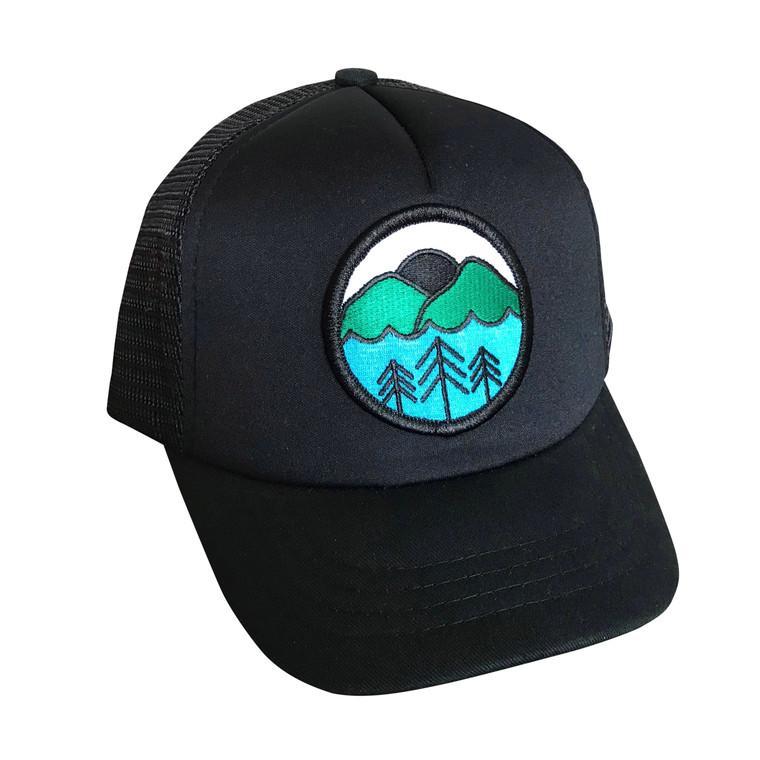 Nature Lover baby & toddler adjustable trucker hat (Black)
