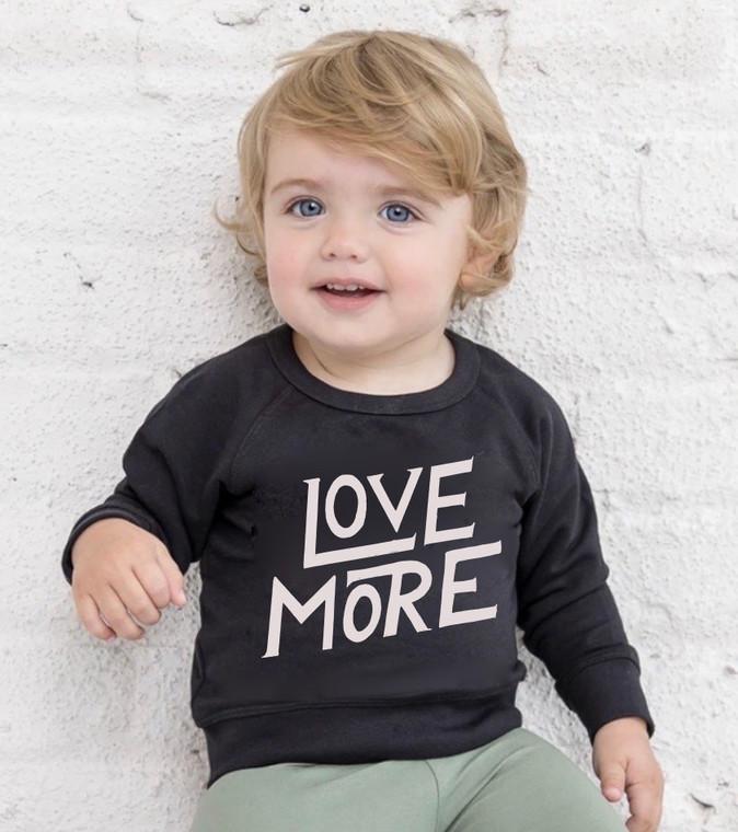 Organic Love More baby & kids sweatshirt (1)