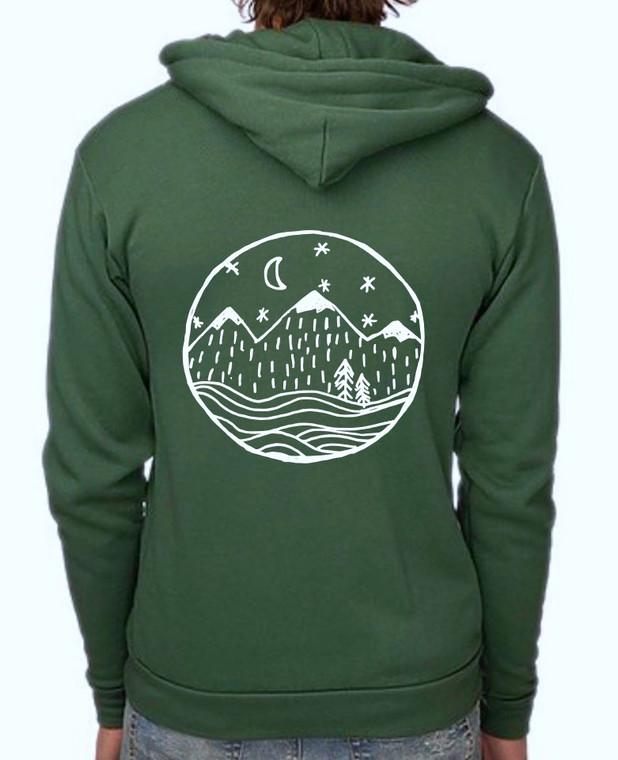 Starry Night mens/unisex zip hoodie (1)