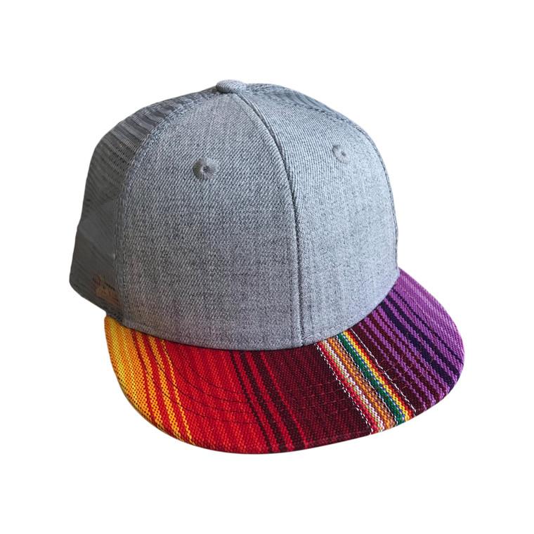 Serape Purple Striped toddler trucker hat