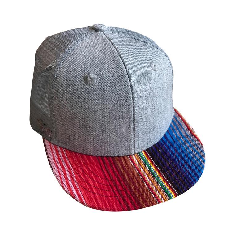 Serape Blue Striped toddler trucker hat