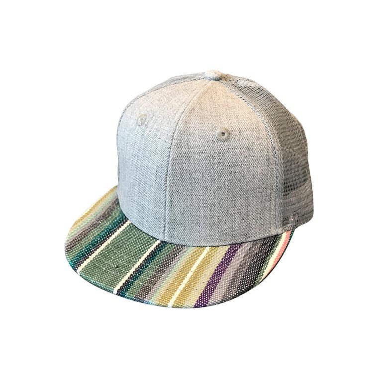 Serape Green Striped toddler trucker hat