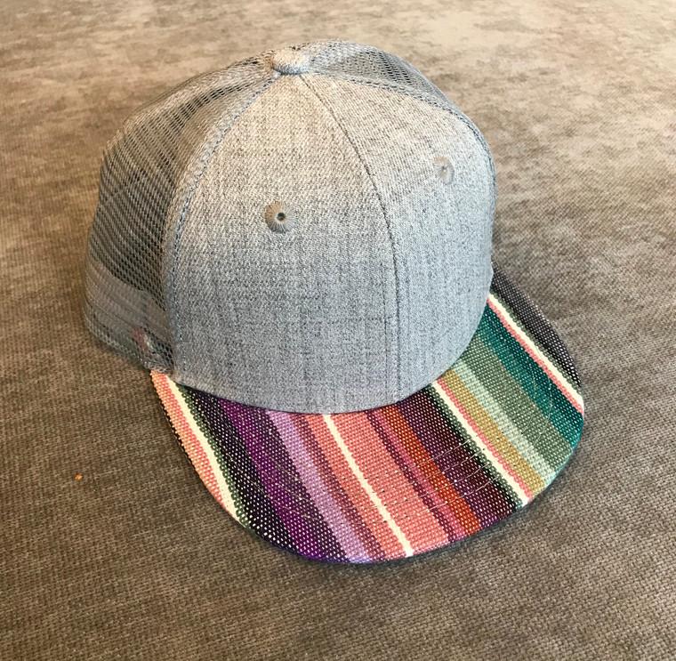 Serape Pink Striped toddler trucker hat