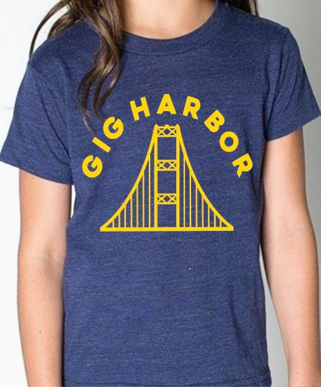 Gig Harbor Narrows Bridge unisex baby and kids t-shirt
