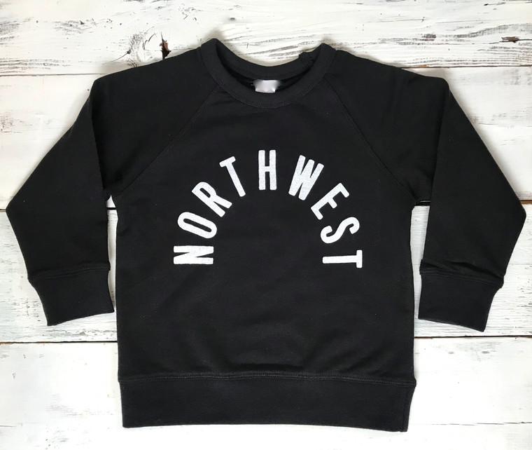 Northwest organic unisex baby and kids sweatshirt (black)