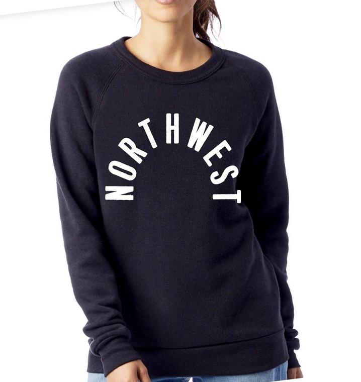 Northwest unisex crewneck sweatshirt. Black NW sweatshirt