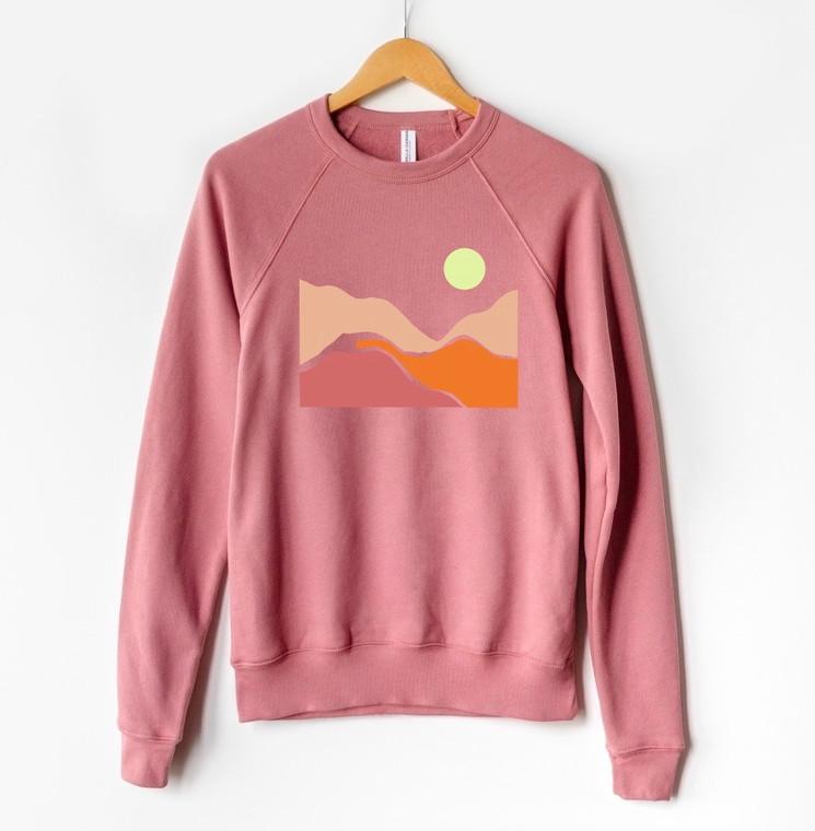 Desert Rose unisex crewneck sweatshirt