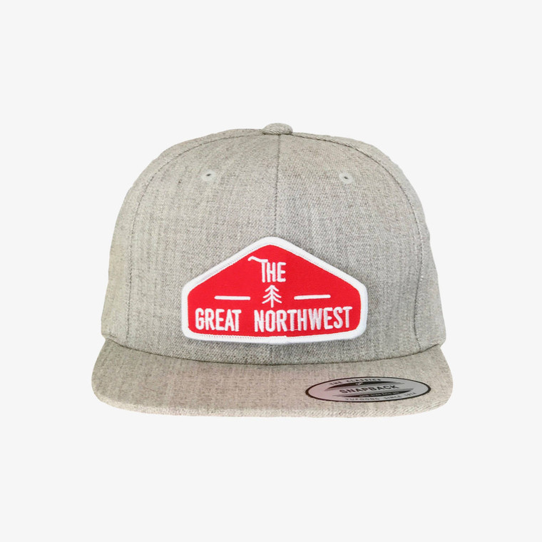 The Great Northwest adult wool snapback hat - Flat brim