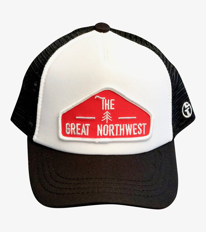 The Great Northwest baby & toddler hat (White/Black)