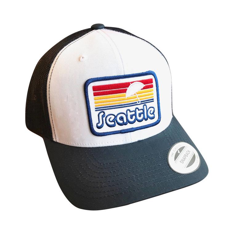 Seattle Sunset adult trucker hat