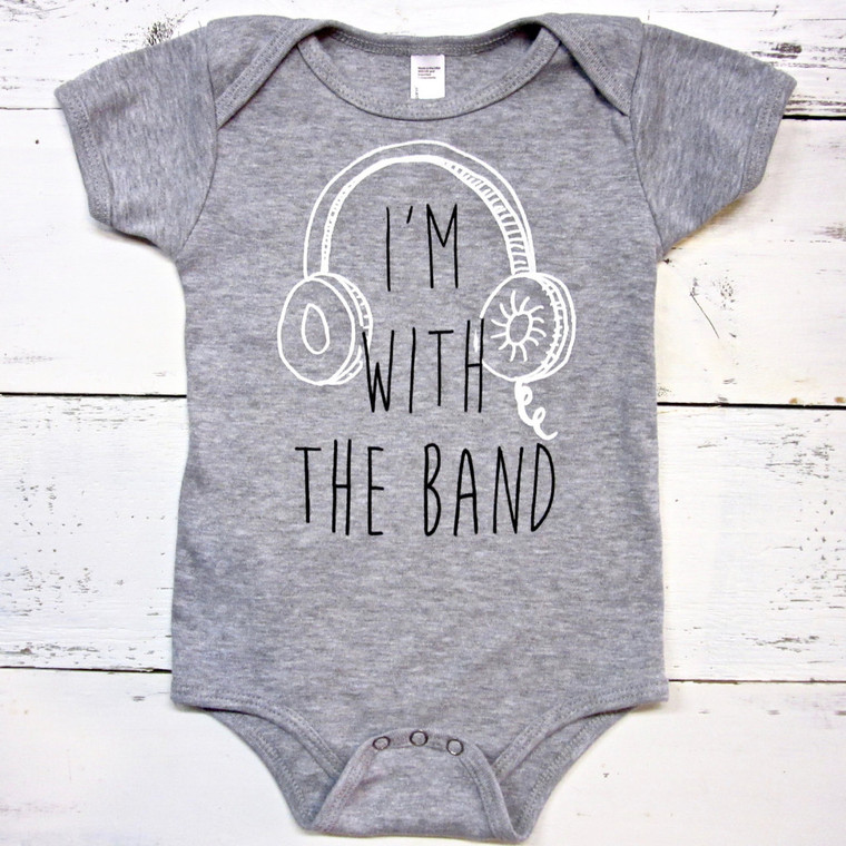 I'm with the Band baby onesie (gray)