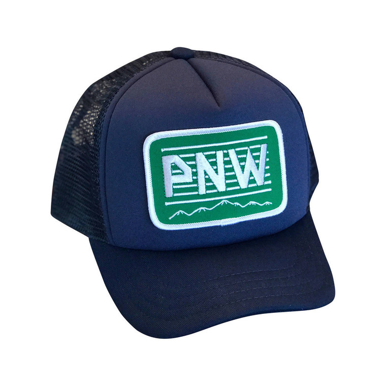 PNW Green baby & toddler foam trucker hat