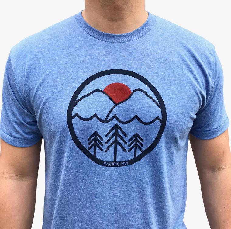 Pacific Northwest mens/unisex t-shirt (light blue)