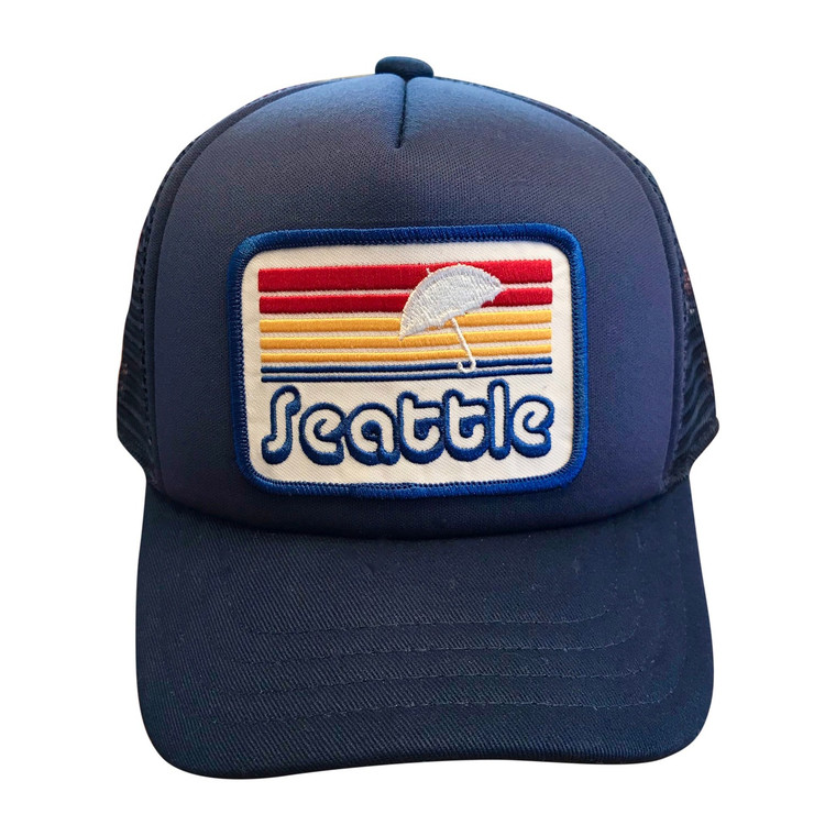 Seattle Sunset baby and toddler trucker hat