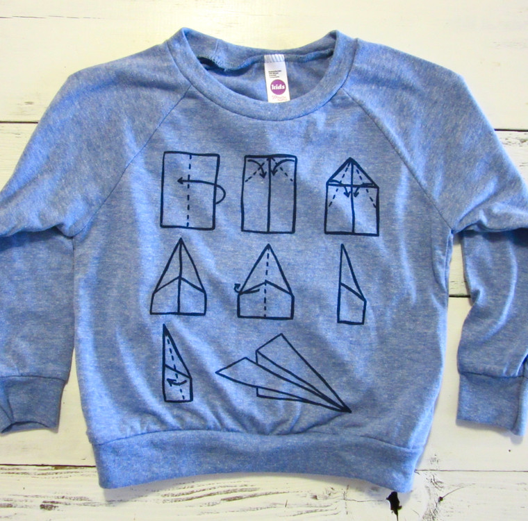 Paper Airplane baby & toddler long sleeve