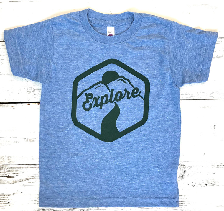 Explore baby & kids tee 1 (light blue)