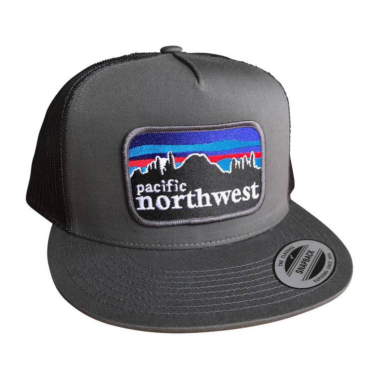Pacifica NW adult trucker hat (Charcoal)