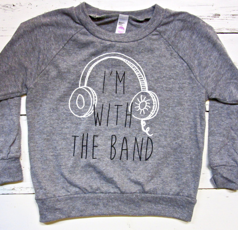 I'm with the Band baby and kids long sleeve (gray)