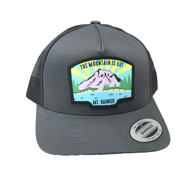The Mountain is Out unisex youth trucker hat