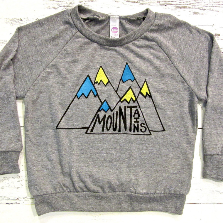 Mountains baby and kids long sleeve (Light Blue)
