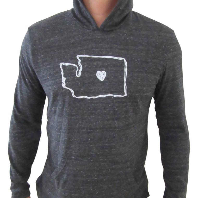 Washington Love mens/unisex lightweight hoodie