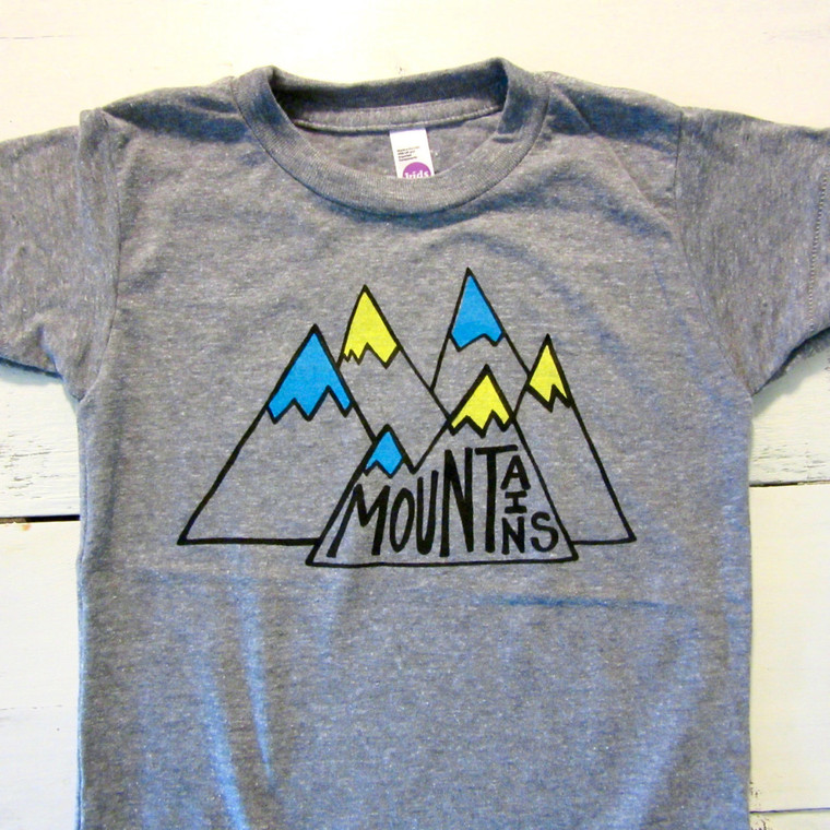 Mountains baby & toddler t-shirt (aqua)