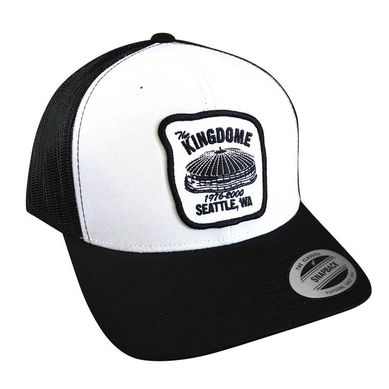 Seattle Kingdome Black & White adult trucker hat