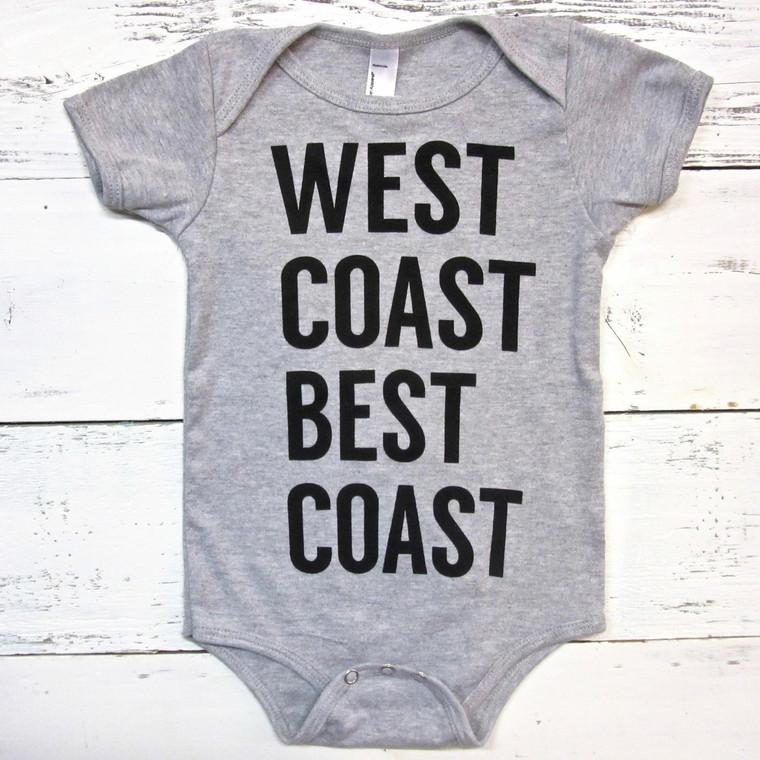 West Coast Best Coast baby onesie
