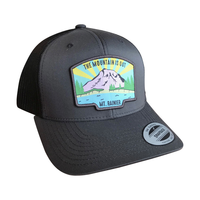The Mountain is Out adult trucker hat