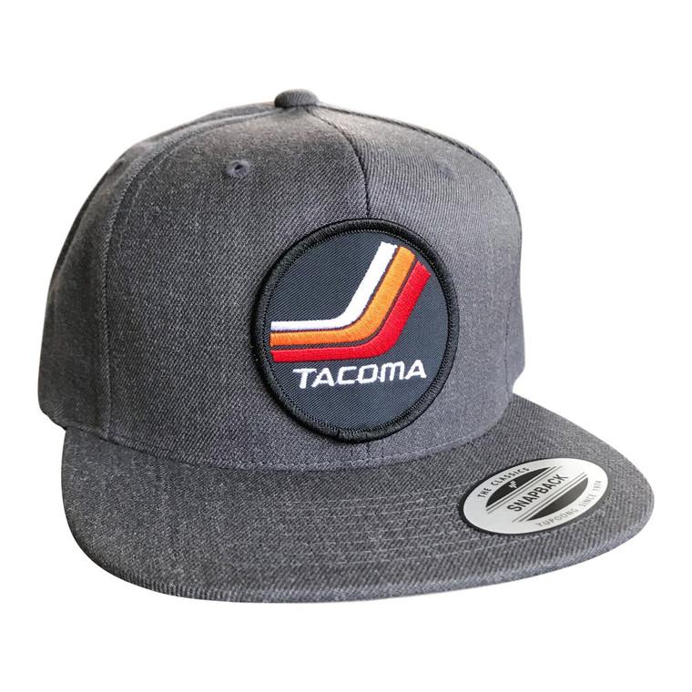 Vintage Tacoma Gray adult wool snapback hat