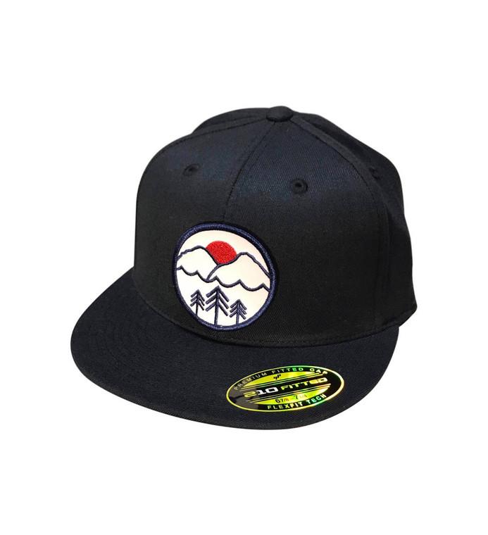 Pacific Northwest patch on navy flex fit hat