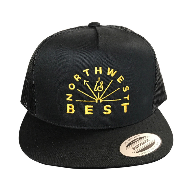 Northwest is Best embroidered adult flat