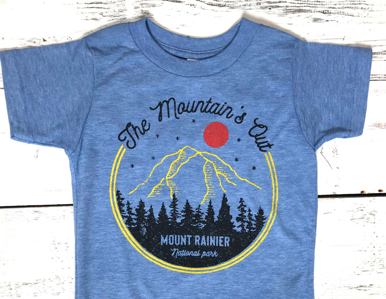 The Mountain is Out baby and kids t-shirt